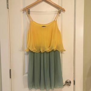 Ark & Co Pleated Two Tier Color Dress Medium